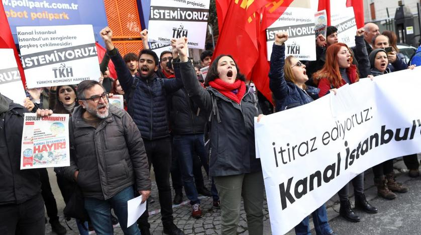 People in Istanbul Sign Petition Criticizing Erdogan's Canal Venture